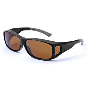 偏光 オーバーサングラス (すべり止め付き) メガネの上からサングラス 男女兼用 UVカットサングラス)|bisho