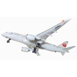 ボタンを押すとリアルなジェット音が流れ、 機体上部と両翼のライトが点滅します。 ランディングギアは手...