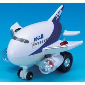 くるぴかエイト ANA  [飛行機おもちゃ 空港 ひこうき ライトが光る 走るひこうき ANAグッズ]|bisho