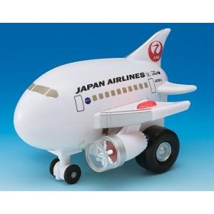 くるぴかエイト JAL [飛行機おもちゃ 空港 ひこうき ライトが光る 走るひこうき JALグッズ]|bisho