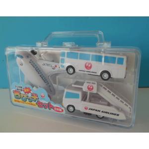 ちびっ子セットJAL鶴丸 [空港のおもちゃ 飛行機セット 空港おみやげ 子供に人気 JALセット ]|bisho