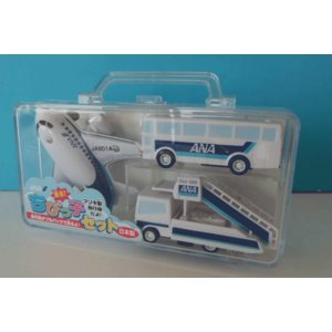 ちびっ子セットANA [飛行機セット 空港みやげ 子供に人気 プレゼント 日本製 ANA飛行機セット]|bisho
