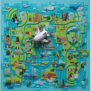 ワールドパズルレール JAL [JAL飛行機 走る パズル 飛行機おもちゃ 大人気 ]|bisho