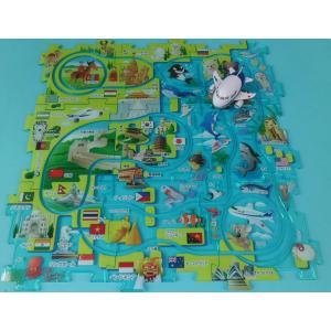 パシフィックパズルレール ANA [走るANA飛行機 飛行機おもちゃ 世界地図 パズルレール 大人気おもちゃ ]|bisho