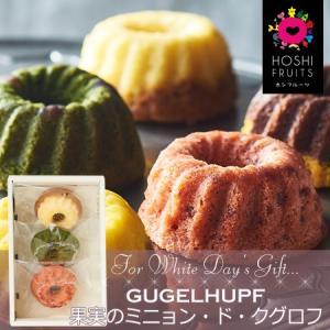 ホワイトデーお返し2019・『HOSHI FRUITS(ホシフルーツ)』果実のミニョン・ド・クグロフ(3個)|bishokuc