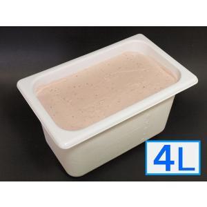 「ジェラートジェラート」業務用・大容量アイスクリーム・ストロベリー味 4L(4リットル)|bishokuc
