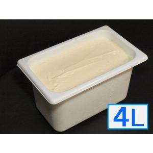 「ジェラートジェラート」業務用・大容量アイスクリーム・リッチバニラ味 4L(4リットル)|bishokuc