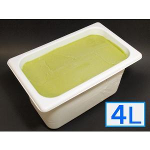 「ジェラートジェラート」業務用・大容量アイスクリーム・宇治抹茶味 4L(4リットル)|bishokuc
