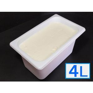 「ジェラートジェラート」業務用・大容量アイスクリーム・ピュアミルク味 4L(4リットル)|bishokuc