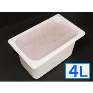 「ジェラートジェラート」業務用・大容量アイスクリーム・ヨーグルトブルーベリー味 4L(4リットル)|bishokuc