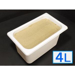「ジェラートジェラート」業務用・大容量アイスクリーム・加賀棒ほうじ茶味 4L(4リットル) bishokuc