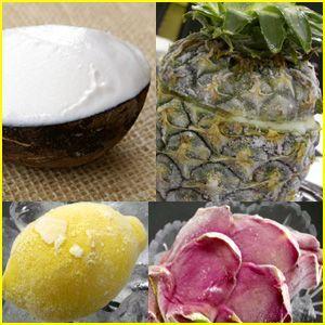 姿そのままサマーフルーツ・シャーベット4種セット「パイナップル・ココナッツ・ドラゴンフルーツ・レモン」・送料無料|bishokuc
