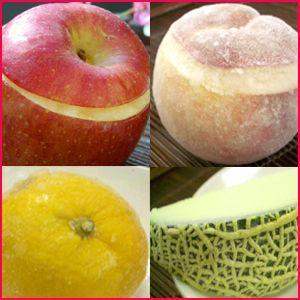 姿そのままジャパニーズフルーツ・シャーベット4種セット「メロン・ゆず・りんご・桃」・送料無料(フルーツ アイスクリーム ギフト)|bishokuc