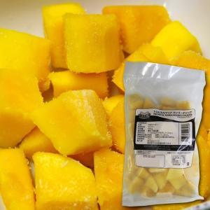 ペルー産・冷凍マンゴー チャンク500g(南米最高級ケント種 完熟アップルマンゴー使用)|bishokuc