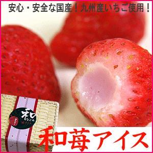 アイス  国産いちごと練乳の和苺アイス14粒・送料無料|bishokuc