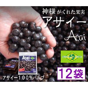 フルッタフルッタ・アサイー(アサイ)100%・パルプ100g×12 FRUTAFRUTA(フルッタフルッタ)|bishokuc