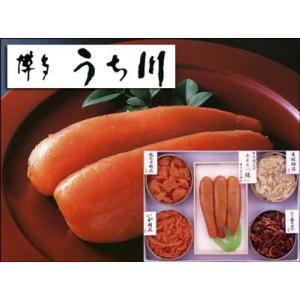 無着色辛子めんたいこ・珍味詰合せ「博多うち川」(明太子・めんたいこ・珍味 セット) bishokuc