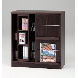 DSP-スライド78(ウォールナット)/ディスプレイラック/書棚・飾り棚/マルカ|bismokku