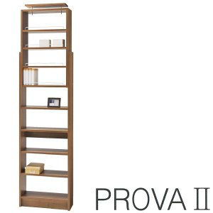 PR2-600/プローバ/つっぱり本棚/幅60cm/オープンラック/タカシン/ブラウン bismokku