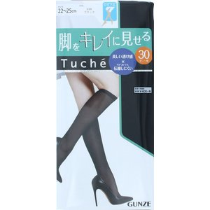 GUNZE Tuche 脚をキレイに見せる ひざ下丈ストッキング (30デニール・伝線しにくい) レディース ソックス stockings pantyhose socks ladies|bisokuhanamai