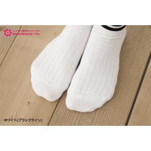 リブ2ラインソックス (白・黒)(日本製・クルー丈)|bisokuhanamai|06