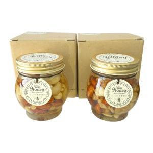 (送料無料)マイハニー MY HONNEY ナッツの蜂蜜漬け 200g × 2個セット 小箱付き(1個入り×2個)|bisousinka