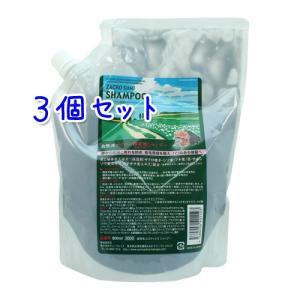 送料無料 サニープレイス ザクロ精炭酸 シャンプー 800ml × 3本セット  詰替用