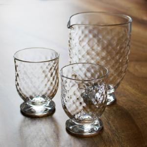 Tomonori  EGAWANO 江川野智典 ハンドメイド ガラス酒器 ダイヤモンド 冷酒器セット (片口・冷酒グラス 2個) ギフト おしゃれ|bisyukiya