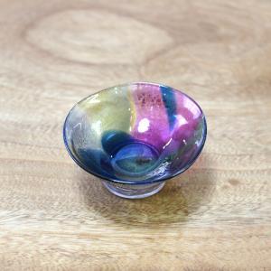 glasscalico グラスキャリコ earth(アース) 雅(みやび) ぐい呑 冷酒器 ハンドメイド ガラス酒器 ギフト おしゃれ|bisyukiya