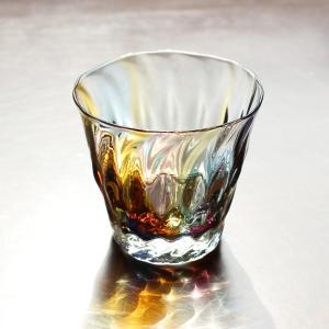 glass calico グラスキャリコ ロックグラス earth (アース) ハンドメイド ウイスキー 焼酎 ガラス酒器 ギフト おしゃれ|bisyukiya
