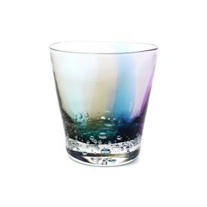glass calico グラスキャリコ ハンドメイド ガラス酒器 earth bubble (アースバブル) ロックグラス ウイスキー 焼酎 カクテル グラス|bisyukiya