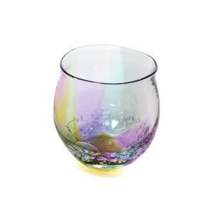 glass calico グラスキャリコ ハンドメイド ガラス酒器 earth bubble (アースバブル) 丸型 ロックグラス ウイスキー 焼酎 カクテル グラス|bisyukiya