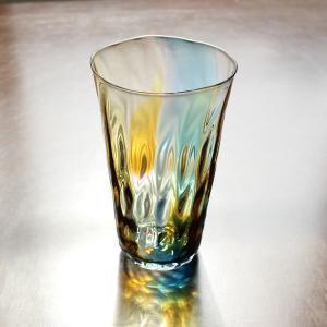 glass calico グラスキャリコ ハンドメイド ガラス酒器 earth (アース) ロンググラス ウイスキー 焼酎 ビール グラス タンブラー ギフト おしゃれ|bisyukiya