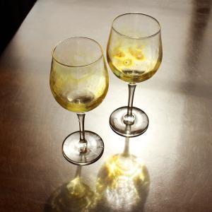 glass calico グラスキャリコ ハンドメイド ガラス酒器 月光 (げっこう) ワイングラス ペアセット (2個入) ギフト おしゃれ|bisyukiya