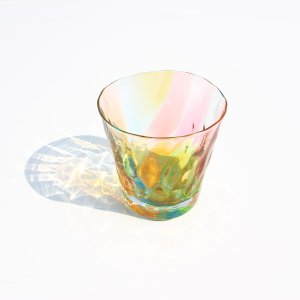 glass calico グラスキャリコ  ロックグラス プリズム ハンドメイド ウイスキー 焼酎 ガラス酒器 ギフト おしゃれ|bisyukiya