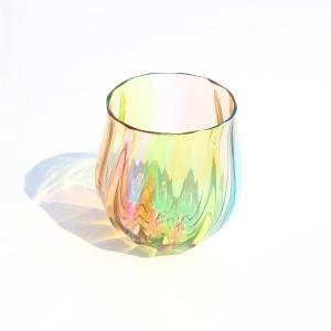 glasscalico グラスキャリコ ハンドメイド ガラス酒器 プリズム 丸型 ロックグラス ウイスキー 焼酎 カクテル 梅酒 グラス ギフト おしゃれ|bisyukiya