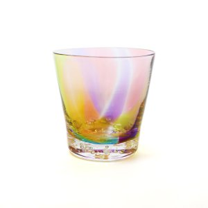 glass calico グラスキャリコ ハンドメイド ガラス酒器 プリズムバブル ロックグラス ウイスキー 焼酎 カクテル 梅酒 グラス|bisyukiya