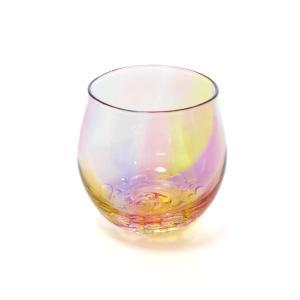 glass calico グラスキャリコ ハンドメイド ガラス酒器 プリズムバブル 丸型 ロックグラス ウイスキー 焼酎 カクテル 梅酒 グラス|bisyukiya