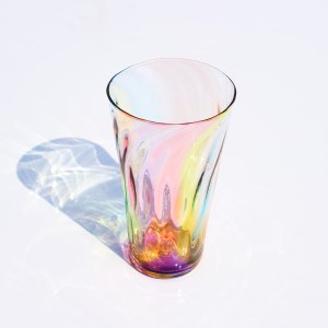 glass calico グラスキャリコ ハンドメイド ガラス酒器 プリズム ロンググラス ウイスキー 焼酎 ビール グラス タンブラー おしゃれ ギフト おしゃれ|bisyukiya