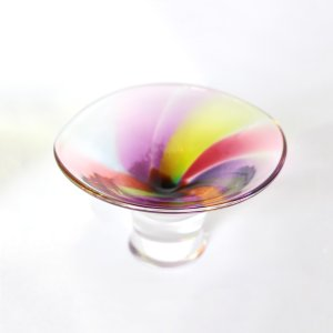 glass calico グラスキャリコ ハンドメイド ガラス酒器 プリズム 富士山 ぐい呑 逆さ富士 ギフト おしゃれ|bisyukiya