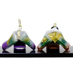 ガラスのお雛様 ひとえ雛 春風 SAIZOU GLASS LABO 可児友紀 ハンドメイド ガラスアート 雛人形 ひな人形 おひなさま オブジェ おしゃれ コンパクト ギフト|bisyukiya