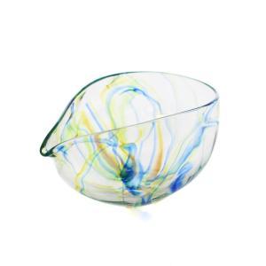 SAIZOU GLASS LABO サイゾウグラスラボ ハンドメイド ガラス酒器 Lotus (ロータス) 横型 片口 冷酒器|bisyukiya
