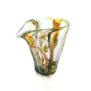 SAIZOU GLASS LABO サイゾウグラスラボ ハンドメイド ガラス酒器 Lotus (ロータス) 縦型 片口 冷酒器|bisyukiya