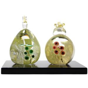 ガラスのお雛様 うめ雛 SAIZOU GLASS LABO 可児友紀 ハンドメイド ガラスアート 雛人形 ひな人形 おひなさま おしゃれ コンパクト ギフト|bisyukiya