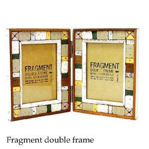 写真立て フォトフレーム フラグメント ダブルフォトフレーム FRAGMENT DOUDLE PHOTO FRAME あすつく|bit