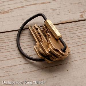 キーホルダー D-シェイプキーリング ブラック  D-shape Key Ring Black M&U Co. あすつく|bit
