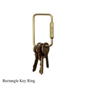キーホルダー レクタングルキーリング  Rectangle Key Ring M&U Co. あすつく|bit