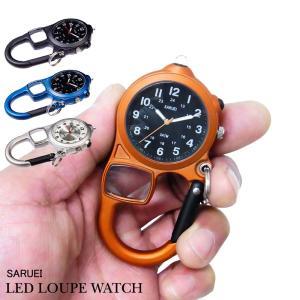 カラビナキーホルダー サルエイ LEDキーウォッチ saruei LED key watch あすつく|bit