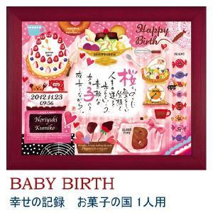 名前入りポエム額 ネームインポエム ベビーバース 幸せの記録 お菓子の国  name in poem|bit