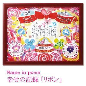 名前入りポエム額 ネームインポエム リボン  name in poem Ribbon|bit
